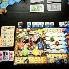 DELPHI!! @RePOST from @lmboardgamesgroup -  Blue player's board. ~*~ #oracleofdelphi #stefanfeld #tastyminstrelgames #boardgames #bgg #boardgamegeek #tabletopgames #boardgameporn #dicerolling #racinggame ~*~ @dubhlinngatemainst @tastyminstrel #Repost