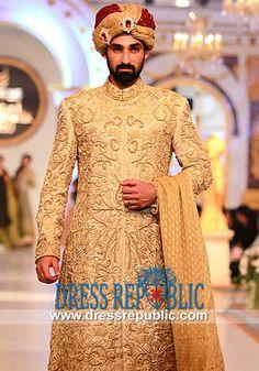 Arsalan Iqbal #Sherwani Showcased at Pantene #Bridal #Couture Week 2013 in Lahore. Arsalan Iqbal Sherwani Collection is now Available on Dressrepublic.com