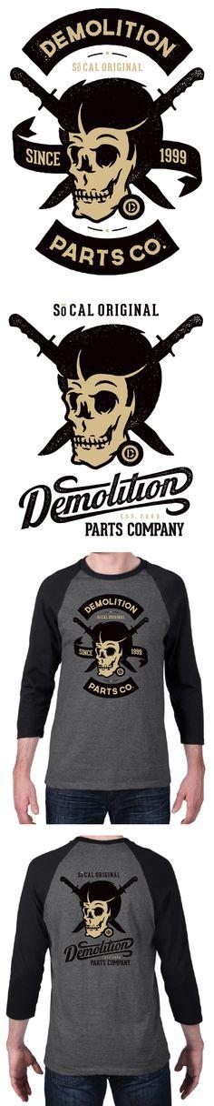 Demolition Vintage T-shirt Design 2 #vintage #handlettering
