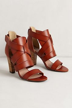 de9caaa6d5d87 Shoe Addiction    Rich brown summer sandals with a stacked wood heel - just  perfect