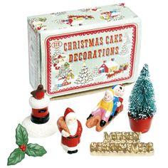 Box Of 6 Christmas Cake Decorations | DotComGiftShop