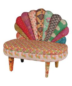 Love this Pink & Orange Peacock Love Chair by  on #zulily! #zulilyfinds