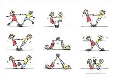 gymnastics partner balance activities - Google Search