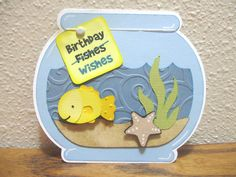 Image Detail for - Cricut After Dark: Birthday Fishes Wishes Card