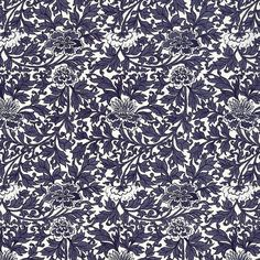 Made In Italy Blue Flowers Floral Paper For Scrapbooking Journaling IPT534BL