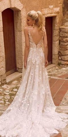 A perfect wedding dress for the secret garden - rich, botanically designed . - A perfect wedding dress for the secret garden – rich, botanically embroidered lace applications # - Top Wedding Dresses, Lace Mermaid Wedding Dress, Wedding Dress Trends, Perfect Wedding Dress, Mermaid Dresses, Designer Wedding Dresses, Bridal Dresses, Wedding Ideas, Wedding Decorations