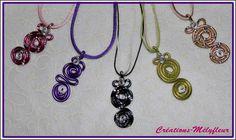 Collier alu torsadé, couleur au choix : Collier par creations-melyfleur