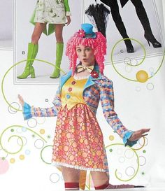 Clown Costume For Adults by Simplicity 2525 by ThisandThatCrafter, $8.50