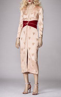 Click product to zoom Sequin Midi Dress, Silk Dress, Camo Dress, Blush Dresses, Satin Dresses, Jeanne Damas, Jane Birkin, Quirky Fashion, Sophia Loren