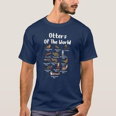 Otters Of The World Sea Otter Giant Otter T-Shirt