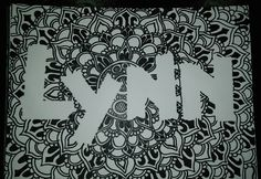 I drew this for my Person! Mandala Style