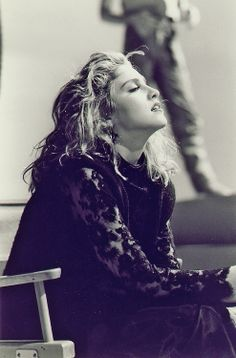 "Madonna on the set of ""Material Girl"" video (1985) Thanks: Madennis #NAVYinspiration #Madonna #80s"