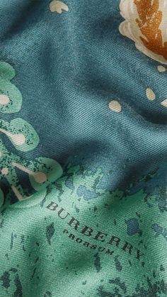 Burberry Sea Green Bohemian Floral Print Cashmere Scarf - A lightweight cashmere scarf with a bohemian floral print. Discover the scarves collection at Burberry.com