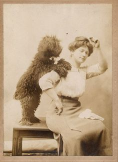 photo form the1910's. my puppy does that too me too.
