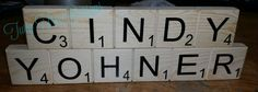 our scrabble tiles are great for desk name plates !