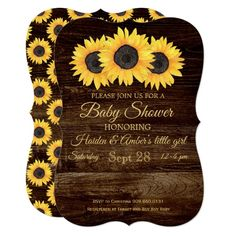 New Country Bridal Shower Cupcakes Wedding Invitations Ideas Sunflower Wedding Invitations, Rustic Bridal Shower Invitations, Country Wedding Invitations, Bridal Shower Rustic, Wedding Invitation Card Design, Wedding Favors, Baby Shower Themes, Baby Shower Gifts, Shower Ideas