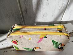 Trousse Zip-Zip toucan cousue par Christelle - Patron Sacôtin