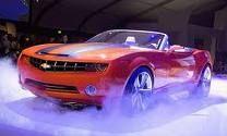 orange convertable camero #Cars #Speed #HotRod