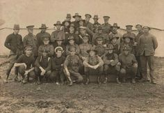 Members of the 1st Royal Australian Navy Bridging Train who had previous service with the Australian Naval & Military Expeditionary Force to New Guinea in 1914.