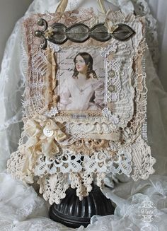 Shabby Chic Inspired: sewing by Shabby Chic Crafts, Vintage Crafts, Vintage Shabby Chic, Vintage Lace, Victorian Crafts, Vintage Diy, Antique Lace, Fabric Ribbon, Fabric Art