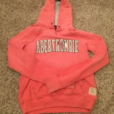 Pink pullover Abercrombie sweatshirt Very cute and cozy size small sweatshirt. Worn, but still lots of wear left in it! Abercrombie & Fitch Tops Sweatshirts & Hoodies