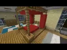 Minecraft Interior Design Four-poster Bed Minecraft Houses Survival, Minecraft Projects, Minecraft Designs, Minecraft Bedding, Minecraft Furniture, Minecraft Bedroom, Minecraft Interior Design, Minecraft Architecture, 4 Post Bed