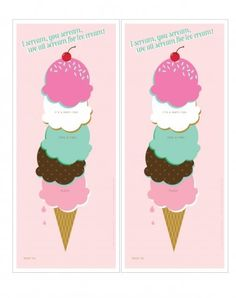 FREE ice cream party invitations via One Charming Party! #icecreamparty #invitations #freeprintables #free