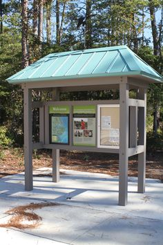 Park Signage, Wayfinding Signage, Kiosk Design, Signage Design, Information Kiosk, Painted Cupboards, Entrance Sign, Smart Garden, Park Trails