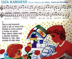 táta kamarád Kids Songs, Music Notes, Preschool, Games, Design, Music, Children Songs, Songs For Children, Nursery Songs