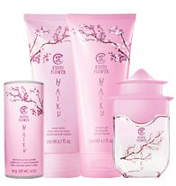 "Haiku Kyoto Flower 4-Piece Poetry Collection. Pamper Mom with the ""serene beauty of velvety violet leaf and pristine white peony cocooned in soft cotton musk. She will love it !  All for $23.00 find at www.youravon.com/darcadipane"