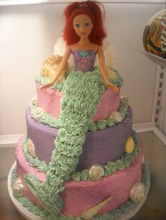Little Mermaid cake-it was so pretty and good :)