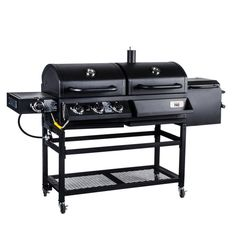 Backyard Pro Portable Outdoor Gas and Charcoal Grill / Smoker - Knocked Down