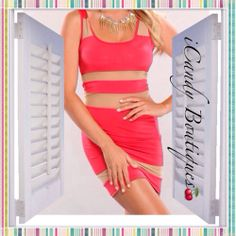 Red Mesh Cut Out Sleeveless Mini - $35