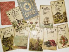 1885 German Wust Lenormand deck from the personal collection of well-known New York tarot & deck artist Robert Place.