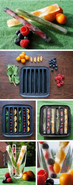 Fruit Ice Cubes - a great idea for summer drinks.
