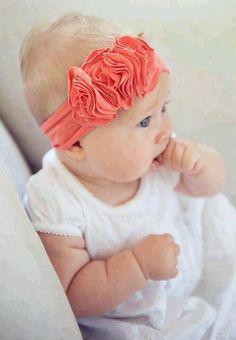 Coral baby headband