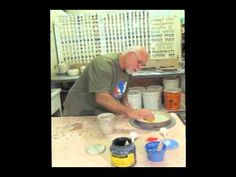 Pottery slip trailing demonstration by Andy Snyder of Mud Puppy Pottery
