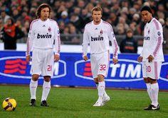 Pirlo, Beckham, and Ronaldinho