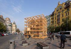 H3T architects set designblok observatory cube in prague's city center
