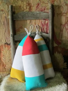Buoy Pillow  These are fun !   Could also make these as gift bags for summer birthdays...or bottle bags for wine...