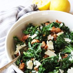 Kale and Turkey Sausage Saute with Parmesan [21 Day Fix] Recipe Main Dishes with kale, turkey sausage, garlic, red pepper flakes, parmesan cheese, lemon, olive oil