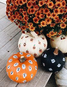 Halloween Pumpkins, Fall Halloween, Halloween Crafts, Happy Halloween, Pumpkin Art, Pumpkin Carving, Pumpkin Spice, Pumpkin Ideas, Easy Halloween Decorations