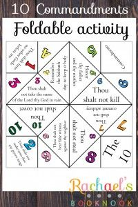 LDS Primary 6 Lesson 21 10 Commandments Foldable, activity, craft