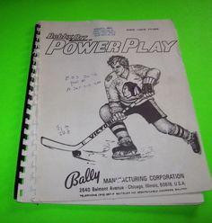 BOBBY ORR POWER PLAY BALLY '78 ORIGINAL PINBALL MACHINE OPERATION SERVICE MANUAL #powerplaypinball #ballypinball