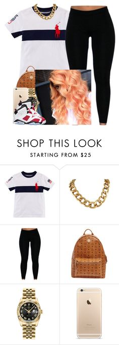 """""""✨"""" by newtrillvibes ❤ liked on Polyvore featuring MCM, Rolex and Retrò"""