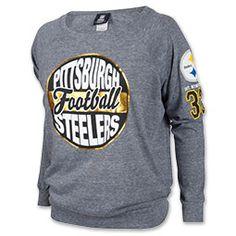 New Era Pittsburgh Steelers NFL Tri-Blend Womens Long Sleeve Scoopneck Shirt