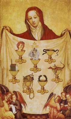 Seven of Cups - Golden Tarot by Kat Black