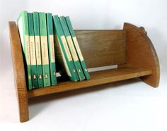 A design classic - lovely... Arts & Crafts Robert Mouseman Thompson Hand Carved Oak Mouse Book CD/DVD Trough - ebay £150