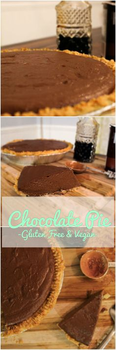 Gluten free & Vegan Chocolate pie, so good you'll want to eat it right from the pie tin!