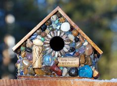 Tropical Mosaic Birdhouse by WinestoneBirdhouses on Etsy, $93.50 Several to choose from and they're all beautiful.
